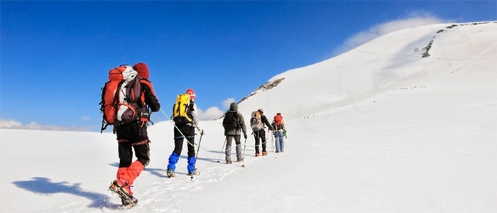 Cramponage in montagna